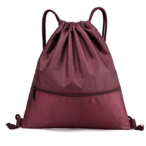 QIANJINGCQ simple bolsa de baloncesto bolsa de pelota estudiante portátil almacenamiento de equipo deportivo cordón para niños mochila impermeable mochila escolar con cordón