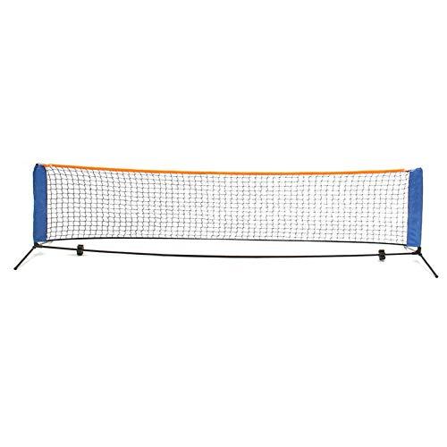 Heqianqian Red de bádminton de 3 x 0,85 m de red de tenis estándar de acero cable de bádminton de entrenamiento de voleibol, equipo de red deportiva con bolsa de almacenamiento