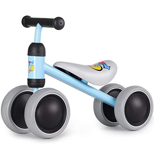Hadwin Kinder Balance Laufrad Lauflernrad ohne Pedale, Rutschrad ab 1 Jahr, Spielzeug für 18-36 Monate, Baby Geschenk für Jungen/Mädchen (Blau)