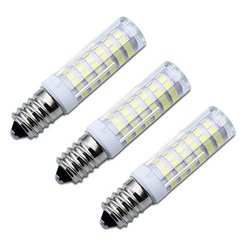Paquete de 3 bombillas LED E14 para campana extractora de cocina de color blanco frío 6 W equivalente a 50 W bombilla halógena 550 lúmenes 6000 K [clase energética A++]