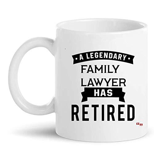 N\A Taza de Regalo de Abogado de Familia jubilada Taza de 11 oz - Abogado Facultad de Derecho Jubilación Regalos Tazas Tazas Regalo de jubilación para Abuela Abuelo