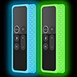 Apple TV Silicone Protective case: Compatible with Apple TV 4K 5th /4th Gen Remote.ATTENTION:Not compatible with Apple TV remote 2 & 3 Generation Glow in the dark after inject energy via table lamp,flashlight,flash of cell phone,exposing it under lig...