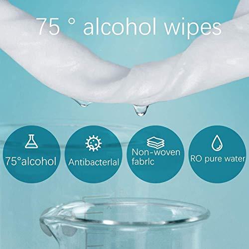 FANPING Antibakteriell 75% Alkoholtupfer for Hand, Tel.-Bildschirm, Wunde, Packung mit 50 Stück, Antiseptikum und Einweghandalkoholtupfer for Reinigung Bakterien und Schadstoffe, Sanitär Antibakteriel - 3