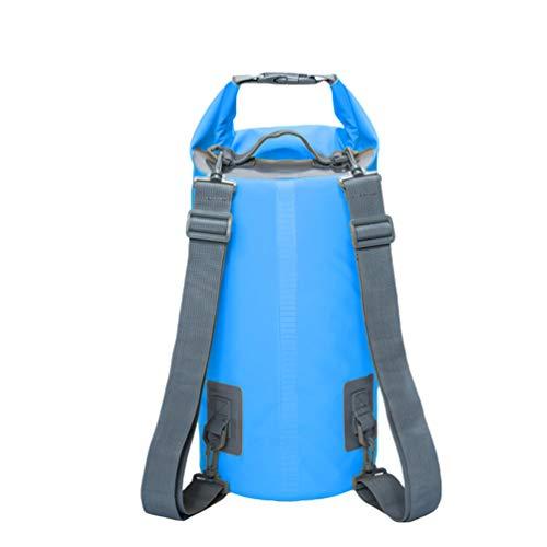 ❉ Bag Bolsa 100% impermeable, con tela de malla gruesa 500D, resistente y duradera, con tecnología impermeable especial, nueva tecnología de costura de alta frecuencia, sin fugas de agua, sin fugas de aire, fuerte resistencia al agua, puede mantener ...