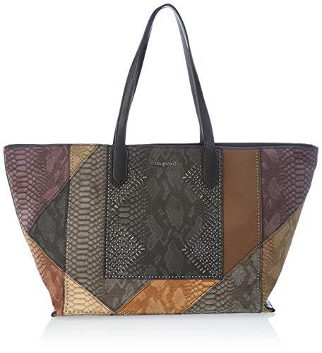 Desigual Accessories PU Shopping Bag, Borsa shoppering Donna, Marrone, U
