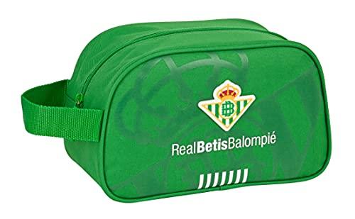 safta Neceser Escolar Infantil Mediano con Asa de Real Betis Balompié, 260x120x150 mm