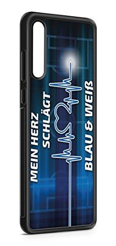 aina Kompatibel mit Samsung Galaxy A51 Silikon Hülle Handyhülle Flexibles Slim Case Cover Gelsenkirchen Skyline Motiv Bild Schwarz