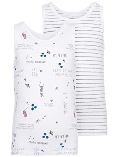 NAME IT NAME IT Mädchen 2er-Pack Unterhemden Tanktops 104/3-4 Jahre