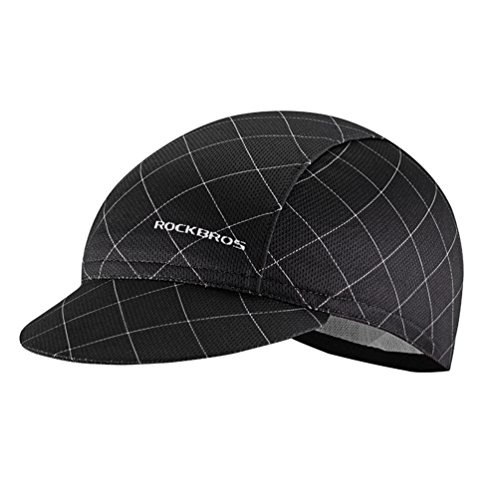 ROCKBROS Men's Cycling Cap Breathable Sun Proof Helmet Liner Hat Black