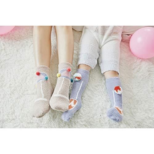 MIWNXM 10 Pares Women Socks Winter Long Socks Girls Cute Japan Color Fashion Winter Warm Towel Socks Women Lady