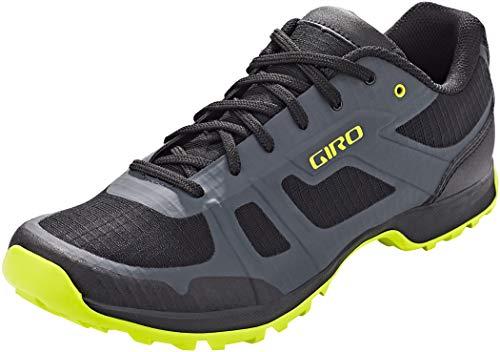 Giro Gauge Men's Mountain Cycling Shoes Dark Shadow/Citrine Green Cover Size: 13.5