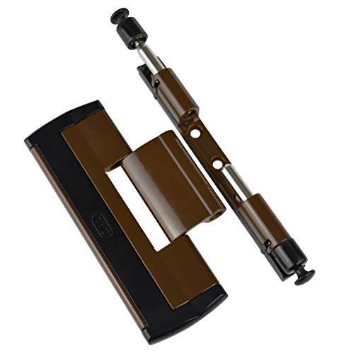 CAL Doublex H – Scharnierseitensicherung Fenstersicherung (braun) Bandsicherung Türsicherung Aushebesicherung Einbruchschutz, Bandseitensicherung