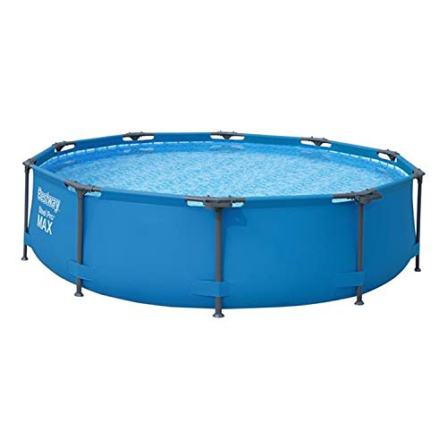 "Bestway 56407E 10' x 30"" Round Steel Pro MAX Hard Side Family Swimming Pool Set with Pump, Filter, patch Repair Kit, and DVD"
