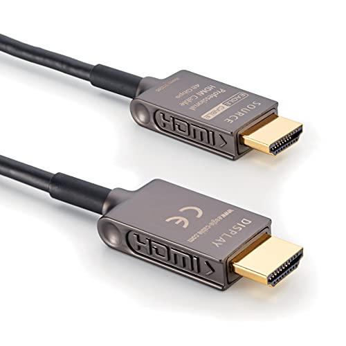 inakustik – 313245002 - Deluxe Ultra High Speed HDMI 2.1 Kabel   2m   48 Gbps   Lichtwellenleiter   UHD 10K@120Hz   professionelles Heimkino & Gaming   HDR10+   eARC (Audio-Rückkanal)