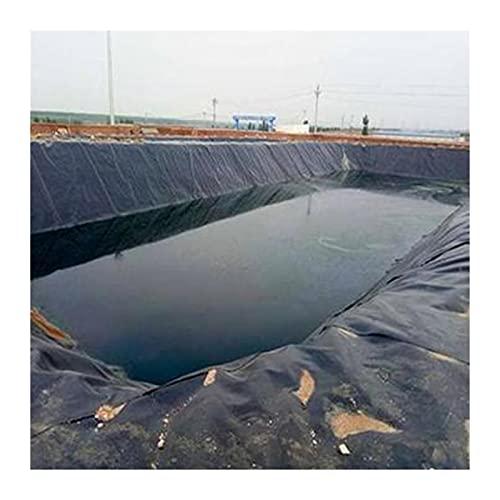 SHIJINHAO Folia do stawu, stawu rybnego, odporna na rozerwanie, odporna na działanie promieni UV, łatwa do czyszczenia, mocna i wytrzymała, do użytku w ogrodzie, na basenie (kolor: czarny, rozmiar: 1 x 8,5 m)