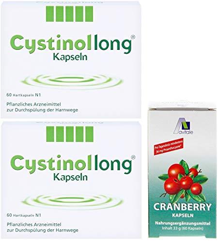 Cystinol Long 2x 60 Kps: Pflanzliches Mittel zur Durchspülung der Harnwege für Erwachsene und Jugendliche ab 12 Jahren + GRATIS Cranberry 60 Kapseln