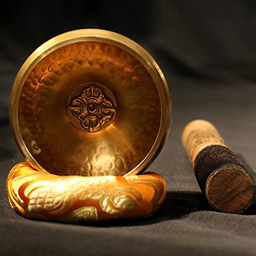YZILXY Juego De Cuencos Tibetanos para Meditación con Cojín Y Mazo De Madera, Cuenco De Sonido Artesanal para Yoga, Curación, Relajación, Atención Plena