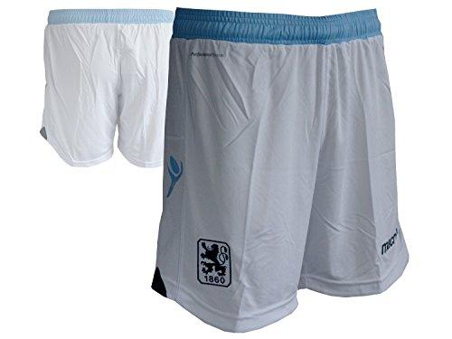 Macron TSV 1860 München Authentic Home Short Spielerhose Löwen Turnhose Fußball-Hose weiß, Größe:XXL