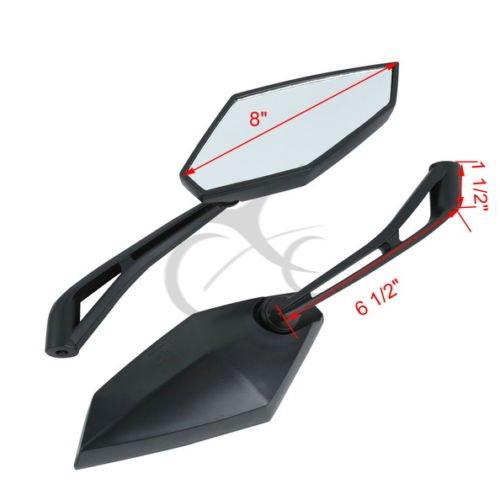 TengChang Motocicletta Destra Sinistra specchietti retrovisori fissato per YAMAHA FZ6N SUZUKI GSR400 GSR600 KAWASAKI Z1000 Z750 ER-6N HONDA CB600 CB750