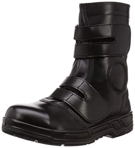 [コーコス信岡] 半長靴 先芯入り マジックテープ ウレタン2層底 LOGU ANTOS メンズ ブラック 30 cm 4E