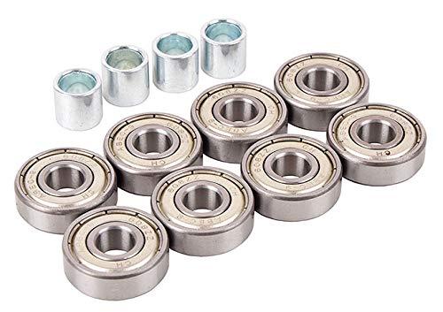 HUZZ ABEC-9 Carbon Kugellager Ball Bearings Inline 8 St + Buchsen 4 St