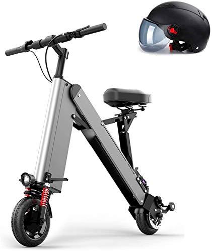 Fangfang Bicicleta de montaña eléctrica, Plegable Bicicleta eléctrica Plegable for Adultos ebike con 350W de Motor y batería extraíble de Litio 48V, Marco de aleación de Aluminio,Bicicleta
