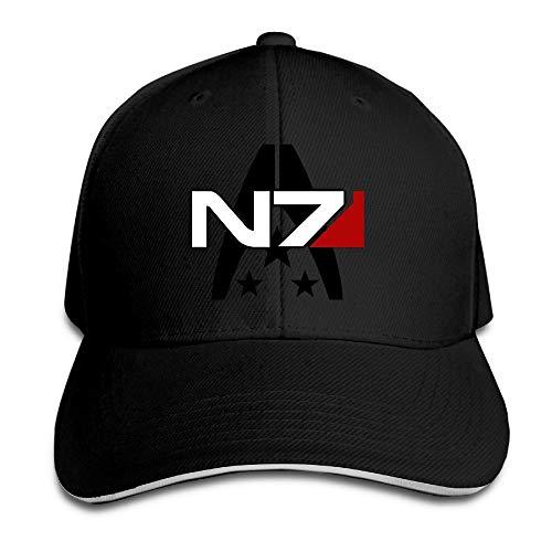 LIU888888 YONLY Mass Effect Alliance N7 Sandwich Cap Black,Hüte, Mützen & Caps