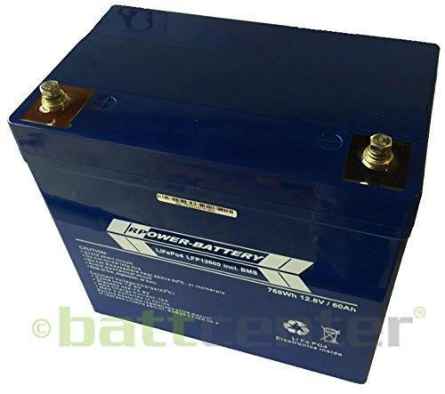 RPower LiFePO4 Lithium Akku: 12V 60Ah 768Wh