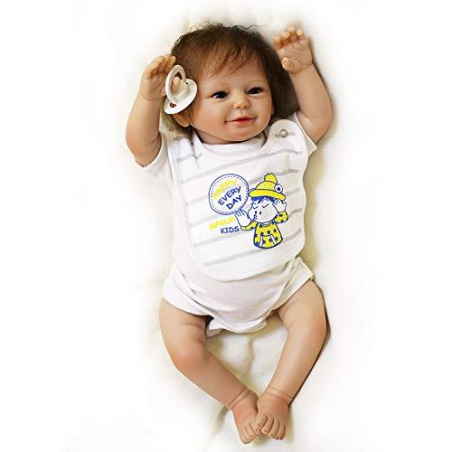 Volle Silikon Körper Real Touch Baby waschbar lebensechte Reborn Puppen realistische Neugeborenes Baby Doll 50cm