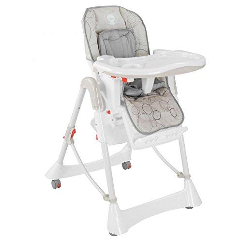Froggy Kinderhochstuhl Babyhochstuhl mit Sicherheitsgurt Großem Esstisch Höhenverstellbar Zusammenklappbar Kinderstuhl Babystuhl Stuhl Bubbles Light