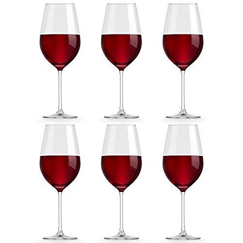 Libbey Copa de Vino Atna – 54 cl / 540 ml - 6 Unidades - Diseño Clásico - Apta Para el Lavavajillas