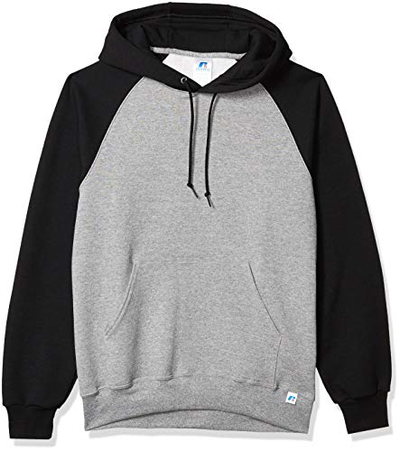 Russell Athletic Men's Dri Power Pullover Fleece Hoodie, Oxford/Black, Large
