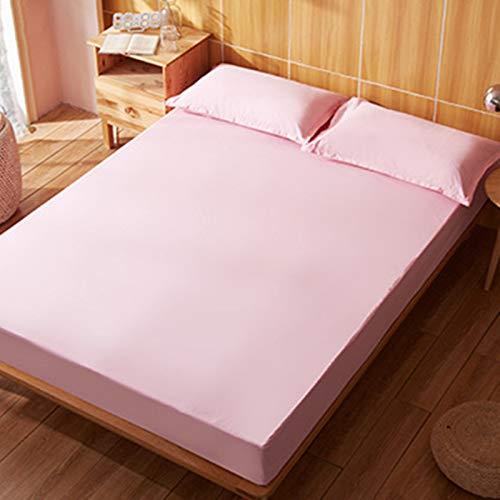 Haiba - Lenzuolo con angoli per letto singolo, in microfibra spazzolata e resistente alle pieghe, colore: rosa, 90 x 190 cm