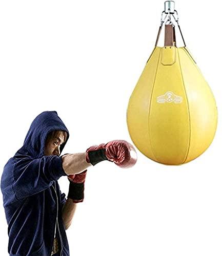 WXFCAS Bolsa de perforación de llenado de agua elástica de Taekwondo, Bolsa de perforación de pie libre for niños for profesionales Boxeo Punch Bag Speed Ba for entrenamiento Ejercicio Fitness y dep