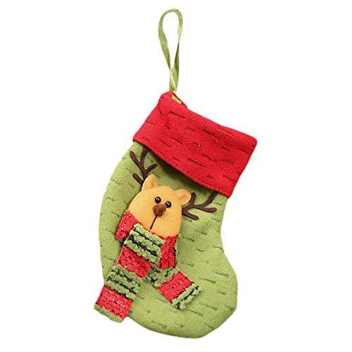 Joy Feel buy 1pieza Navidad Bolso Bolsa Caramelos Regalo Infantil de cubo Bolso para disfraz Fiesta, 18* 10CM 18 * 10cm Rentier Grn