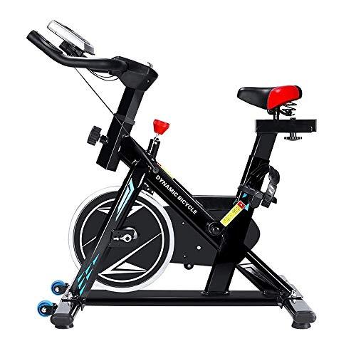 UIZSDIUZ Cubierta de Bicicleta de Ejercicios con la Tableta representan y el Monitor LCD, Silent Bicicleta de Spinning for el hogar aparatos de Ejercicios, for el hogar y Entrenamiento Cardio