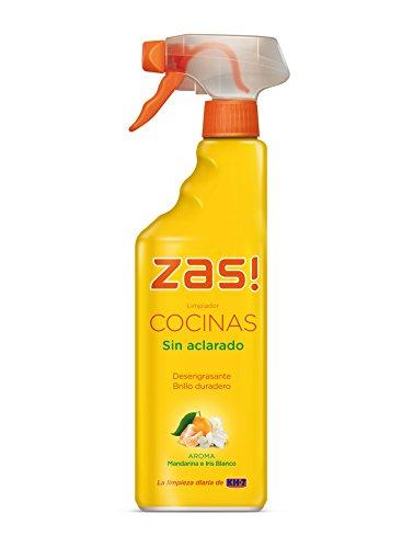 Zas! by KH-7 - Limpiador cocinas sin aclarado - Desengrasante, aroma de mandarina e iris blanco - 750 ml