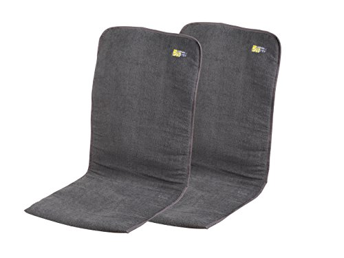 Campart Travel CH-0614 Lot de 2 coussins rembourrés Anthracite 125 x 54 x 1/2 cm