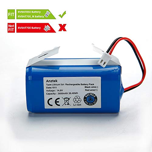 Find Bargain Replacement Battery Pack for Shark Ion Robot RVBAT850 Battery for RV700_N, RV720_N, RV7...