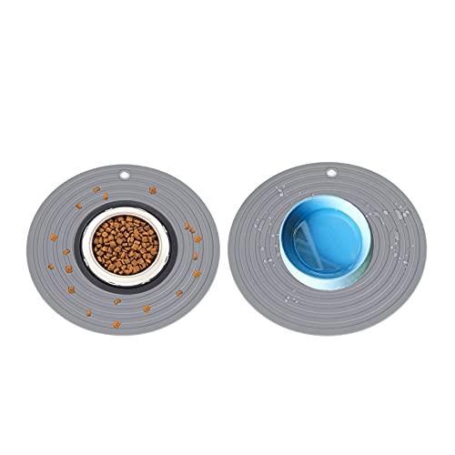 Generic 2 Stücke Napfunterlage Hund und Katzen Silikonmatte Hundenapf Unterlage/Katzennapf Unterlage (24 cm im Durchmesser)