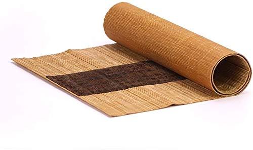 WGFGXQ Corredor de Mesa Tabla de bambú Tradicional Runner Mat, Ceremonia del té Estera de bambú Corredor de la Tabla del Rodillo de Cortina, for la Cocina Tabla Resistente al Calor Manteles