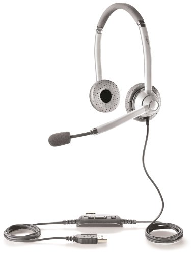Jabra UC VOICE 750 MS Duo (Light) Lync Optimized Corded Headset for Softphone