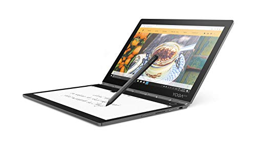 Lenovo Yoga Book C930 27,4 cm (10,75 Zoll QHD IPS Touch) Convertible Tablet-PC (Intel i5-7Y54 Dual-Core, 4GB RAM, 256GB SSD, LTE, Windows 10 Home) grau