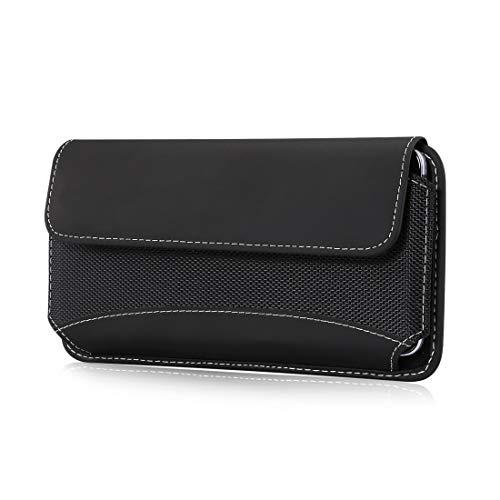 Bolso de un teléfono portátil Para Sony Xperia 10 Plus, Xperia 1, Xperia 1 II, funda de teléfono celular Xperia Xa Ultra Nylon, estuche de cinturón de teléfono celular de nylon resistente para al aire