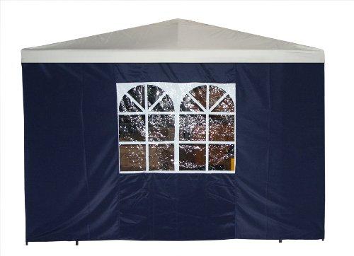 DEGAMO Seitenteil für Pavillon 3x3 Meter mit Fenster, blau