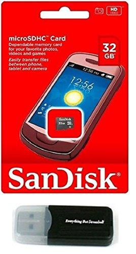 SanDisk 32GB MicroSD HC MicroSDHC Memory Card 32G (32 Gigabyte) works with Motorola Moto E Moto G LTE Nokia Lumia Icon X X+ XL Lumia 930 635 630 530 X2 with Everything But Stromboli Reader