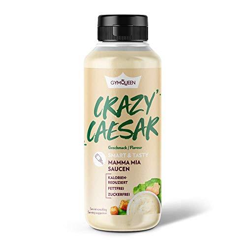 GymQueen Mamma Mia Zero Sauce, kalorienarm, ohne Fett & ohne Zucker, zum Verfeinern von Gerichten oder als Salat-Dressing, vegetarisch und laktosefrei, Crazy Ceasar Soße