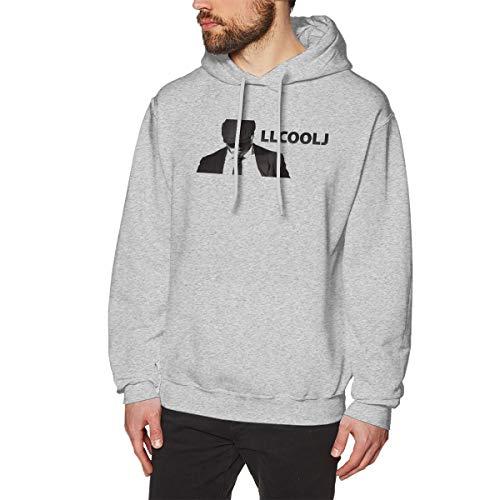 Senziood-fashion Adult Men's LL Cool J Classic Crewneck Sweatshirt Gray M Unique Design for Mans Hoodie