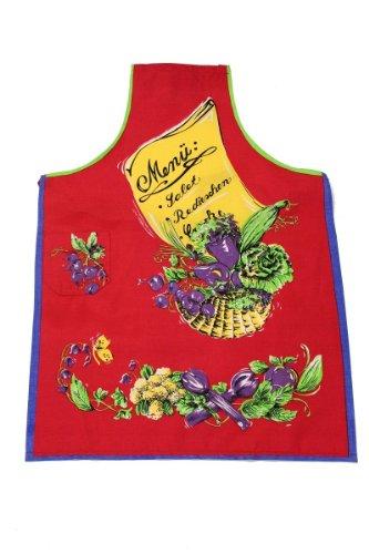 Tobeni 1708-007 Schürze Menü für Grill und Küche Grillschürze Kochschürze Baumwolle