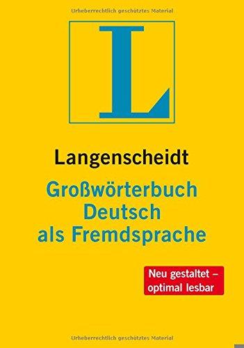 Langenscheidt Großwörterbuch Deutsch als Fremdsprache - Buch (Hardcover) und CD-ROM (Windows): einsprachig Deutsch (Einsprachige Wörterbücher)